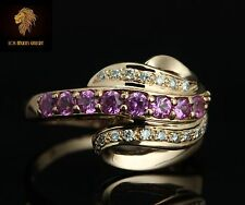 Levian / Diamond & AAA Pink Sapphire gemstone Ring / 14K gold