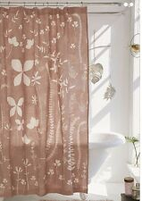 NWT Urban Outfitters KLARA ALLOVER FLORAL Shower Curtain Cotton Mauve