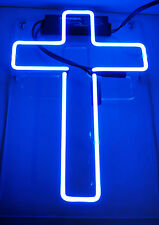 "cross HOME LAMP LED Beer Ice Club Superman Paper POSTER NEON LIGHT SIGN 12""X8"""