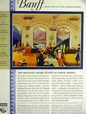 Alberta Canada Lake Louise BANFF SPRINGS CANADIAN HOTEL 1930 Ad Matted
