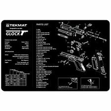 GLOCK 17 19 22 ALL MODELS ARMOURER GUN CLEANING NON SLIP BENCH MAT TEKMAT 11x17""