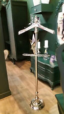 Gentlemans or Ladies Silver Finish Nickle Trouser Suit Valet Stand
