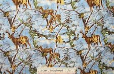 REAL TREE REALTREE Deer at Dusk Camo 10099  Cotton Flannel Fabric BTY    (J8)