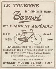 Z9504 Cycles-Motos TERROT -  Pubblicità d'epoca - 1922 Old advertising