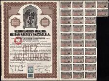 1923 Mexico: Negociacion Minera de San Rafael y Anexas