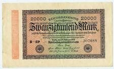 Banknote Deutsches Reich 20000 Mark 1923 Ro. 84e