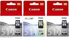 2 X BLACK + 1 X COLOUR PG-510 CL-511 PIXMA MP240 MP250 Original Ink Cartridges
