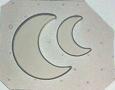 Flexible Resin Mold Set of 2 Half / Crescent Moon Mould Large & Small