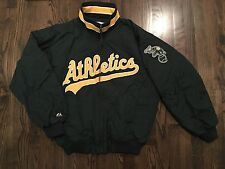 Majestic Authentic Collection Oakland A's Athletics Baseball Jacket Size Large L