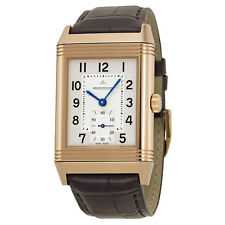 Jaeger LeCoultre Reverso Grande Classique 976 Silver Dial Brown Leather Mens