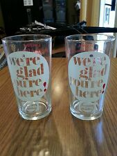 VINTAGE PEPSI WE'RE GLAD YOU'RE HERE GLASS LOT 1972 53RD NRA MCCORMICK PLACE