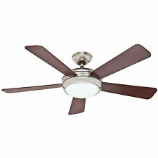 "HUNTER 52"" Palermo ""Brushed Nickel"" Ceiling Fan with Light - Model #59052"