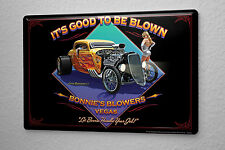 Tin Sign Garage Wall Design  Hotrod sexy woman flames  Metal Plate