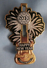 HRC Hard Rock Cafe Happy New Year 2013 Guitar Slider Pin Hollywood LE