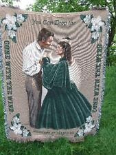 New Gone With The Wind Moonlight and Magnolias Afghan Blanket  2001 COA Limited