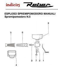 indici15 Corpo Spremipomodoro n°5 Manuale Ghisa Trattata Ricambi Reber