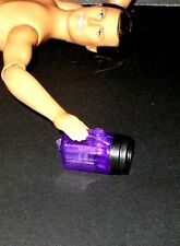 Purple Working Camp Flashlight for 12 Inch Men Fashion Doll w/ Xtra Batteries