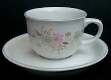 Vintage Poole Pottery Fragrance Pattern Flair Range Coffee Cups & Saucers in VGC