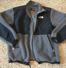North Face Denali Polartec Boy's Fleece Jacket Gray And Black Youth Large R-$129