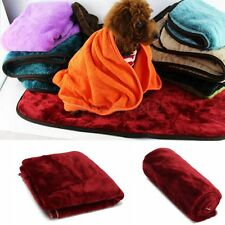 Soft Warm Pet Dog Puppy Cat Fleece Blanket Bed Mat Pad House Cushion Cover