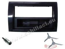 Kit montaggio autoradio 1 DIN con cassetto  per FIAT BRAVO nero lucido