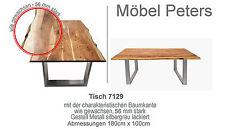Esstisch Tisch 180 x100cm mit Baumkante 5,6cm massive Platte Akazie NEU