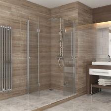 Dusche Duschkabine Falttür Echtglas Duschabtrennung Eckeinstieg Duschwanne 90x90