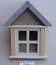 1:12 Scale Wooden Dormer Window 45 Degree Dolls House Miniature Accessory 628