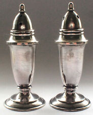 Antique 950 Solid Stirling Silver Hallmarked Mini Salt and Pepper Shakers Picnic