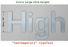 EXTRA LARGE  25cm 'Contemporary' Stainless Steel Letters - ANY COMBINATION