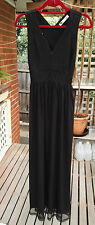 Temt Black Maxi Dress with Tulle Skirt - Size 8