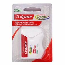 3 x Colgate Total Waxed Dental Floss 25 Mtr Protect Gums & Reduce to tooth Decay