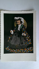 Doll in traditional dress Provencale France Vintage colour postcard c1960s
