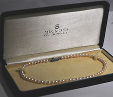 "Mikimoto Vintage 15"" Strand Pearl Necklace (6mm Round Pearls) 925 Silver Clasp"