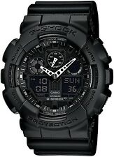 Black G-Shock Chronograph Watch GA-100-1A1ER RRP £110