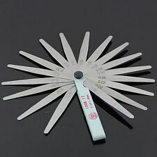 Pretty Metric Feeler Gauge Gap Filler Thickness  Measurement Tool 17 Blades