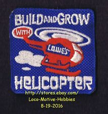 LMH Patch  HELICOPTER  Kid's Build Grow  LOWES Project Series  CHOPPER