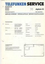 Telefunken Service Stromlaufplan Digitale 30   B1330