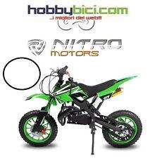 Minicross DS 67 Fiamme Doppio scarico, Spegnimento di sicure NITRO MOTORS VERDE