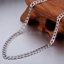 925 Sterling Silver Classic Men Boy's Curb Link Chain Necklace Jewelry Gift J6Y9