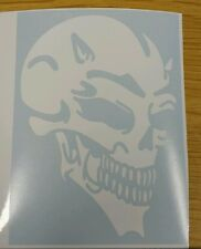 Devil Skull - White std - Car Van Window Vinyl graphics sticker Decal Tribal
