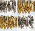 20Pcs 6-8inch long New Fashion Colors Grizzly Feathers hair for extensions