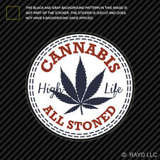 420 Cannabis Sticker Decal Self Adhesive Vinyl marijuana weed