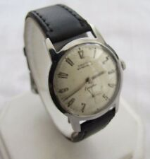 CROTON VINTAGE EQUATOR ALL SS WP 17J MAN WIND VENUS CAL180 RADIAL DIAL