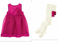 GYMBOREE BONJOUR BEBE INFANT GIRLS  PARTY DRESS WITH TIGHTS NWT SIZE 6-12 MTHS