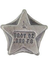 Hand Poured 1 Troy Ounce .999 Silver Bison Bullion Star American USA Made Bar