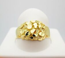 Men's 10K Yellow Gold Nugget Ring 2.7 g