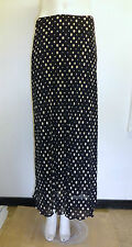 Gorgeous Black & Beige Fully Lined Spotty Skirt from M&S, Size 12 - BNWOT!!