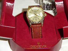 Men's 14K (0585 ITALY) solid GOLD Automatic Geneve Swiss Made Watch YES DIAMONDS