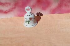 Vintage Porcelain Enesco Pink Rose Bell Collectible